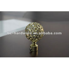 gold curtain rod finial