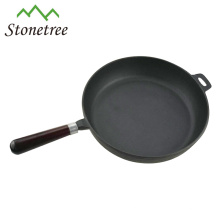 Wholesale New Round Cast Iron Fry Pan Set With Wooden Handle
