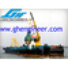 Кран на складе корабль плавучий кран