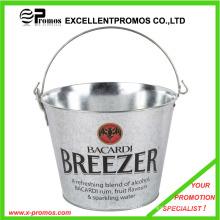 Promotional Logo Custom Ice Beer Tin Buckets with Handle (EP-AB7311)