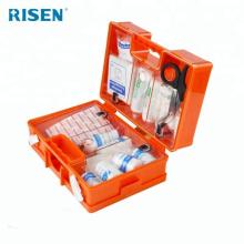Trousse de premiers soins d'urgence pour boîte en plastique ABS