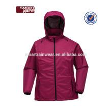Jaqueta corta-vento Ecoach vestuário fabricante OEM personalizado poliéster chuva jaqueta