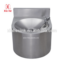 Stainless Steel Hand wash basin, Wall mount drinking foundation with splash