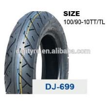 Оптовая высокого качества шины бескамерные мотоцикл 100/90-10