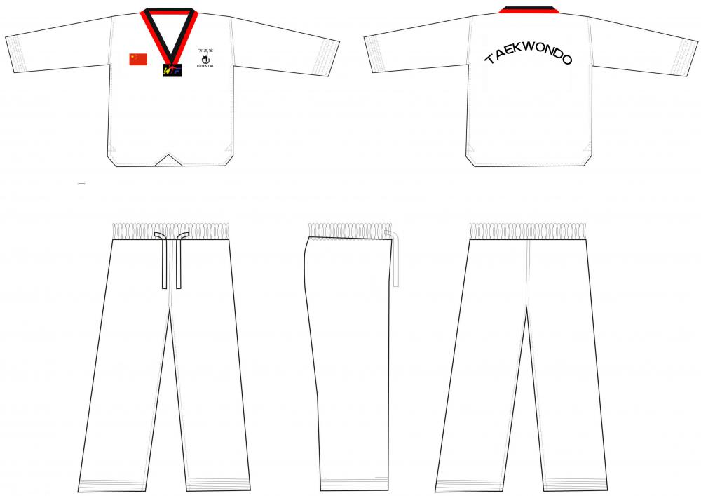 taekwondo uniform poom collar
