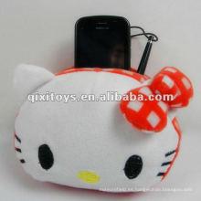 Hola bolso del teléfono móvil del gatito