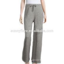 Pantalon de cachemire de couleur gris élégant filles en gros