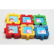 Combination puzzle picture frame