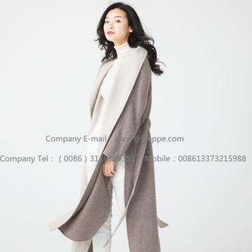 Long Pug Cashmere Coat For Lady