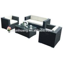 PE rattan sofa living room sets three seater sofa