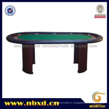 Table de poker 10 personnes avec jambe en bois (SY-T13)