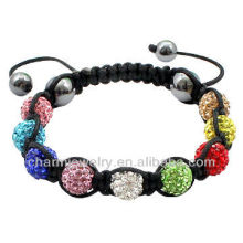 Cristal Clay Beads pulseira pulseira original shamballa China atacado BRS-0014