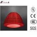 Laterne-Design Red Fabric Pendelleuchte für Hotel