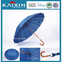 Tissu de revêtement en argent Prix à bas prix Blue Straight Umbrella