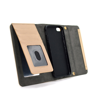 Mirror Leather Wallet Phone Case för Iphone X