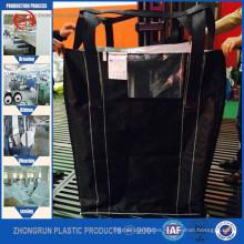 Sacos súper de carbono negro, tamaño de bolsa grande de bolsa grande, fibra con descarga inferior superior abierta con precio de fábrica