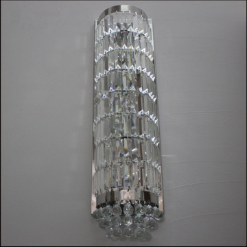 living room long crystal wall lamp
