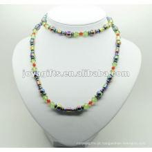 Envoltório de hematita moda com contas de arco-íris redonda