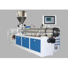 Machine jumelle en plastique d'extrudeuse pour le tuyau de PVC, produit de profil de PVC