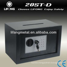 Mini digital safe box with a posting slot