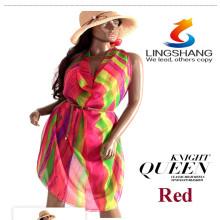 Hot 2015 Lady Scarf Girl Chiffon Shawl Charm Silk Scarves Print Silk Chiffon Big Beach Towels