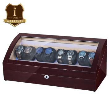 Mahogany Wooden Four Rotors Watch Winder