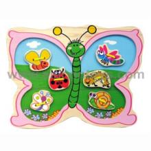 Juguete de madera de la mariposa de lazo (81241)