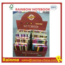 Rainbow Paper Notebook Seite mit Druck