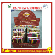 Lado de Notebook de papel arco-íris com impressão