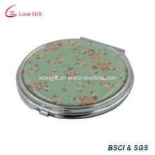 Rodada de espelho de maquiagem flor para relativo à promoção