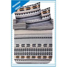 Diamond Shape Patchwork Printed Polyester Duvet Cover Bedding