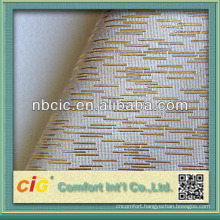 Soft Glod PVC Synthetic Leather for Sofa
