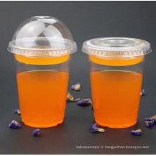 Tasses en plastique jetables d'animal familier pour le jus