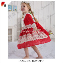 boutique christmas red snowflake embroidery  dresses