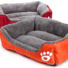Sofá-cama de veludo estilo sofá-cama para cães e gatos