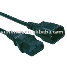 Imprimante de c14 c13 de C13-à-C14 puissance cordon câble Iec utilisation PC