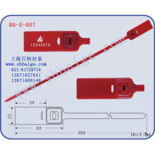 Kunststoffdichtung BG-S-007 für Sicherheitszwecke
