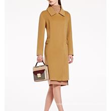 17PKCSC013 women double layer 100% cashmere wool coat