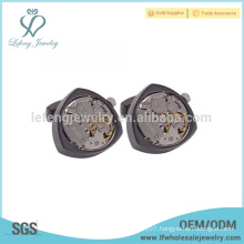 Fashionable watch cufflink design,gun black cufflink,cufflink manufacturer