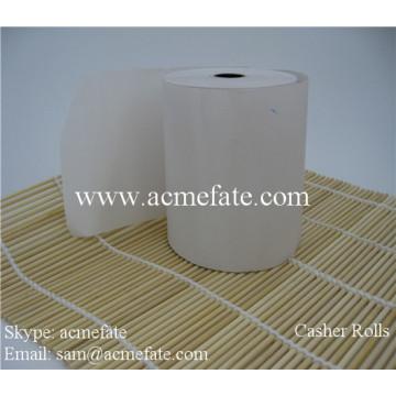 Kasse Register Papier Logo gedruckt Pos Atm Maschine Papierrolle 80x80