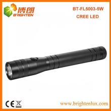 Fabriqué en usine CE ROHS High Bright Long Distance Beam 3C Taille Cell Powered Aluminium Cree XPE Q3 / Q5 Led Torch Light