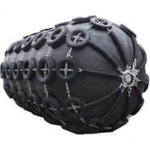 Defensa marina neumática de caucho natural antiabrasión con red de cadena