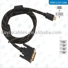 Connecteur en métal Gold HDMI mâle vers DVI Câble pour PC HDTV LCD PS3