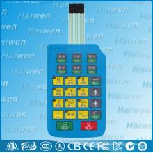 Interrupteur à membrane à bouton-poussoir imperméable personnalisé avec adhésif 3M