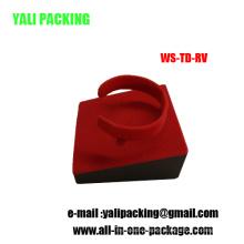 Customized Red Flock Watch Bracelet Holder Wholesale (WS-TD-RV)