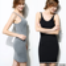 Camisole sem costura feminina Slip Dress - Long Spaghetti Strap