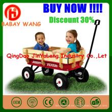 El bebé de madera embroma el carro de carro de los niños cuatro ruedas puede doblar