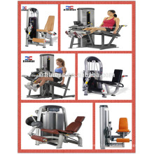 Force commerciale de machine de forme physique Équipement de gymnastique / extension de jambe