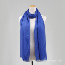 Blue Viscose Long Scarf for Women