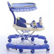 Multi-function round baby walker/doll toy baby rolling walkers/plastic swivel wheel baby walkers